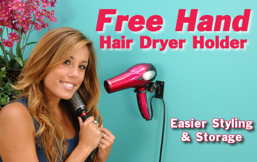 Freehand Hair Dryer Holder Wall Mount